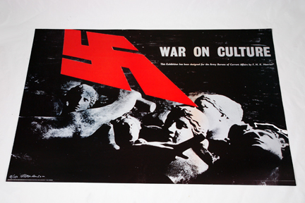FHK Henrion 'War on Culture' exhibition poster from a collection bought at auction by H is for Home