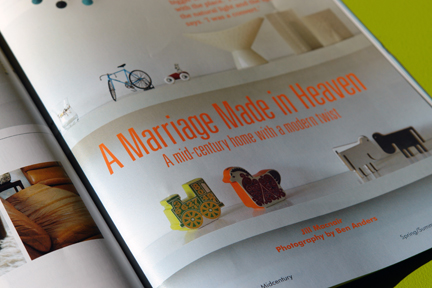 image of the 'image from the 'Marriage Made in Heaven' feature in the 1st edition of Midcentury Magazine