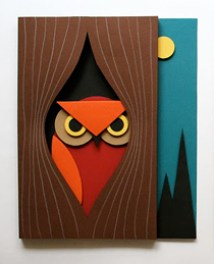 """night time owl"" 3D art tutorial from mmmcrafts"
