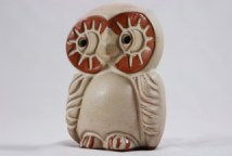 small vintage Shelf Pottery owl figure