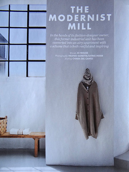 'Modernist Mill' article title page from Elle Decoration