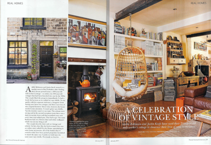 Adelle & Justin from H is for Home have had their home featured in the January 2011 issue of Period Homes & Interiors magazine
