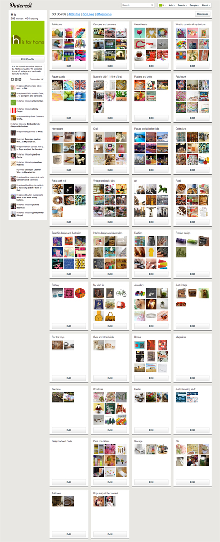 H is for Home's boards and pins on Pinterest