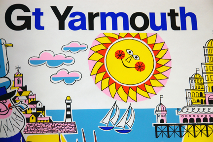 detail from original vintage 'Great Yarmouth' travel poster