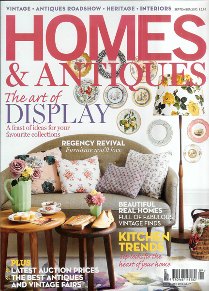 September 2012 Homes & Antiques magazine cover