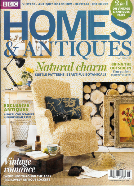 May 2011 BBC Homes & Antiques magazine cover