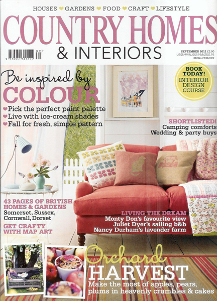 September 2012 Country Homes & Interiors magazine cover
