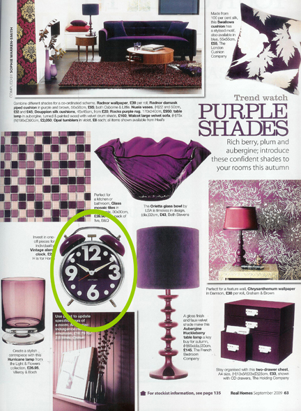September 2010 Real Homes Magazine cutting