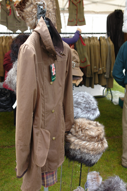 outdoor clothing stall at the Todmorden Show