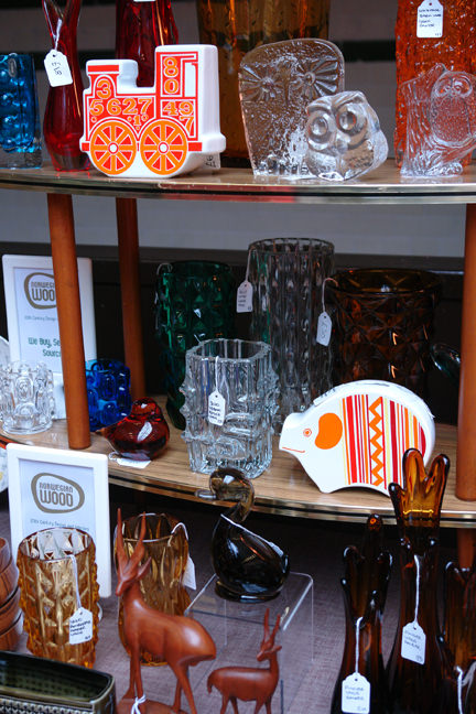 vintage items for sale on the Norwegian Wood stall