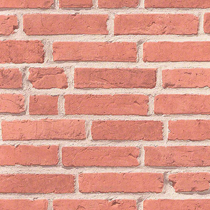 wallpaper mimicking a red brick wall