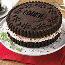cake made with sandwich cookie' cake tin available exclusively through Williams-Sonoma