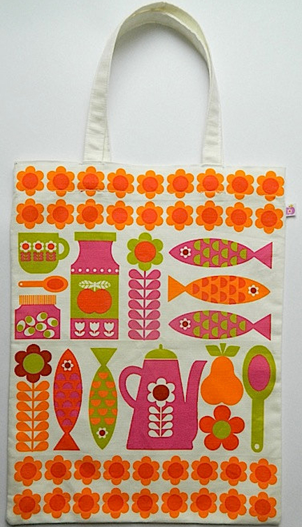 Alice Apple's retro foodie shopping/tote bag