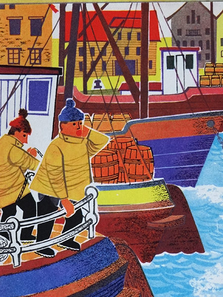 Fishermen in World Dolls Series 'Norway' vintage children's book