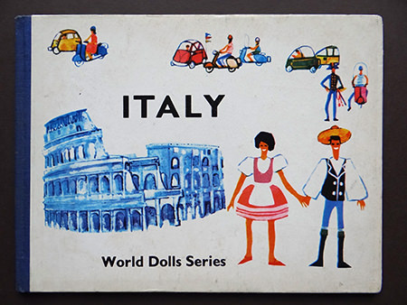 'Italy' front cover from the vintage World Dolls series of books