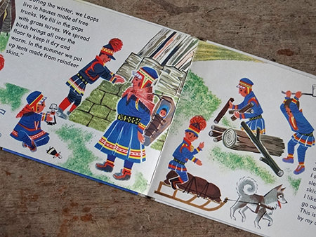 Lapps in World Dolls Series 'Norway' vintage children's book