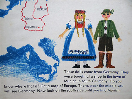 map showing Munich from World Dolls Series: Germany children's book