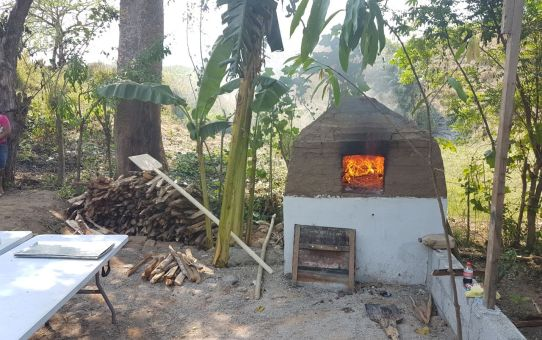 Adobe Brick Oven Inauguration