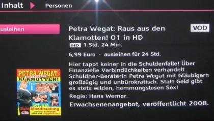 Porno Beratung bei Petra Wegat