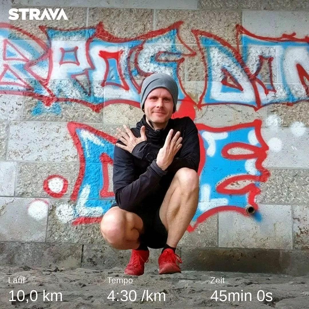 Ballern für Zahlenmonks. 10km, 45 Minuten, 04:30er Pace 🚀🧐 ….