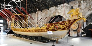 Traditional Venetian boats from Navy Museum Italian Youth Committee UNESCO