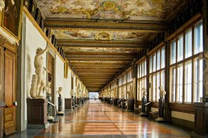 Corridor on the Arno and West Corridor, Uffizi Gallery