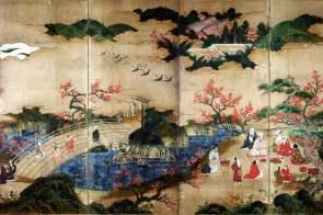 Momoyama - Edo Period Folding Screen Painting, Tokyo National Museum