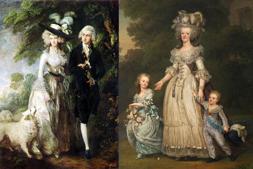 Historia Da Moda Ocidental 1775 1795 Hisour Arte Cultura