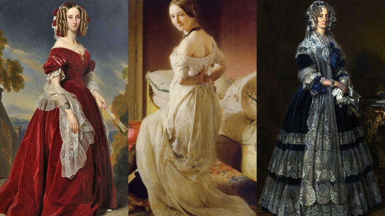 biedermeier mode der frauen 1840er jahre – hisour kunst