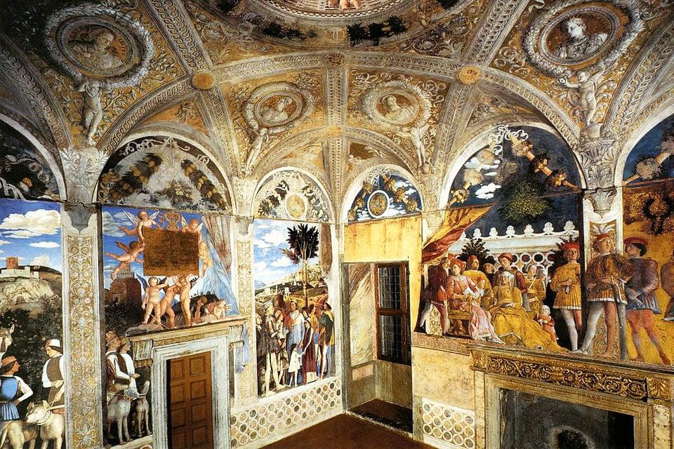 Camera degli Sposi del Palazzo Ducale Mantova, video a 360 °, Museo urbano  di Mantova   HiSoUR - Ciao, così sei