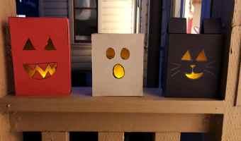 Cereal Box Halloween Luminarias Or Paper Lanterns DIY