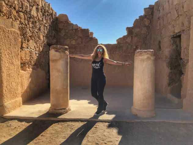 Jeannette in Masada, Israel