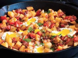 Chorizo Potato and Egg Breakfast