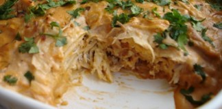Healthy Chicken Tortilla Casserole