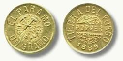 Moneda de un gramo de oro acuñada por Popper