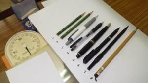 第2回研鑽会 2014年4月5日「筆記具の違いによる,筆圧変化の観察実験と検証」