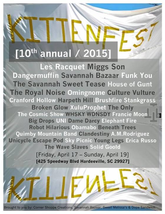 Soft lineup for Kittenfest Savannah 2015