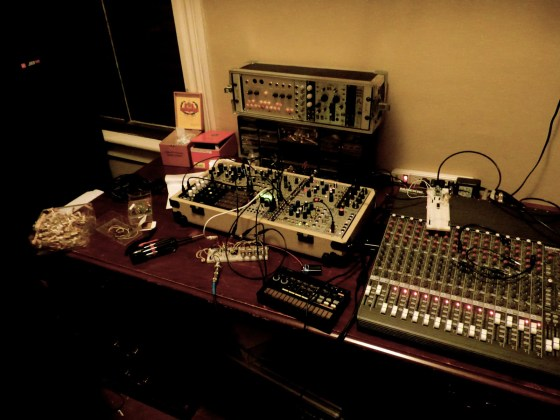 Ross Fish's work station