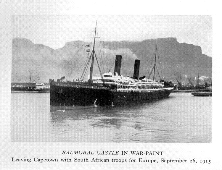 Image result for ships leaving cape town with troops 1915