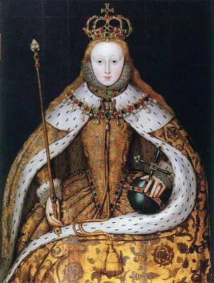Elisabeth Ier en robe de sacre, par l'Ecole anglaise (1599)
