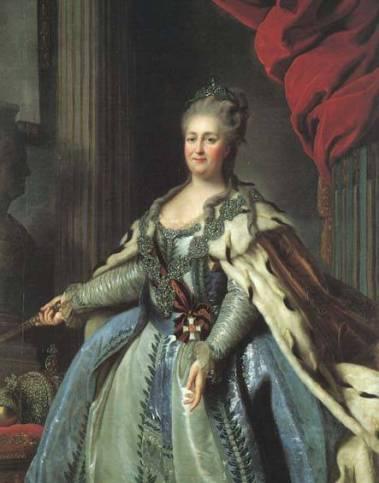 Catherine II, par Fyodor Rokotov (1770)