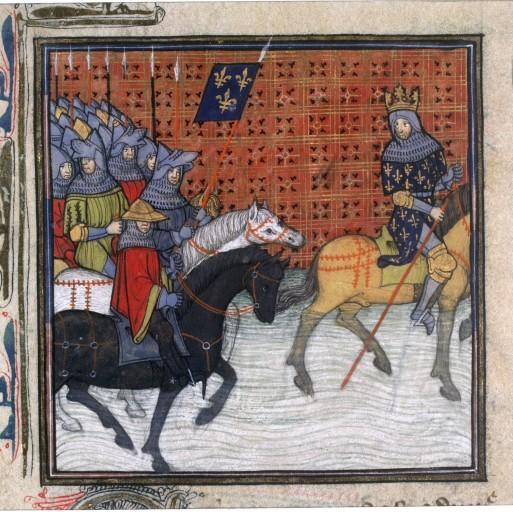 Philippe Auguste traversant la Loire
