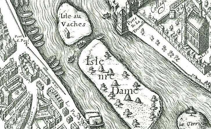 Iles au vache et Notre Dame, extraite du plan de Vassalieu