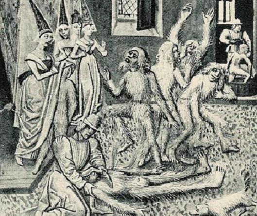 Le bal des ardents - Miniature du XV siècle