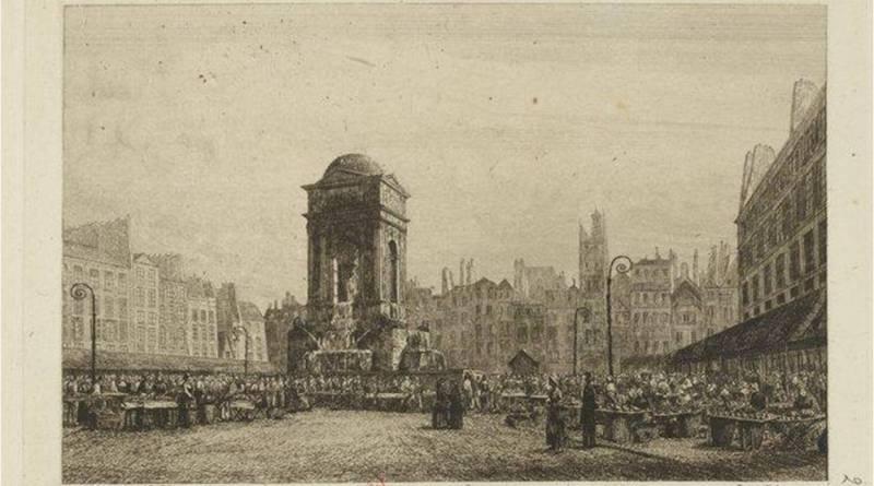 Marché aux Innocents en 1839 par AP Martial