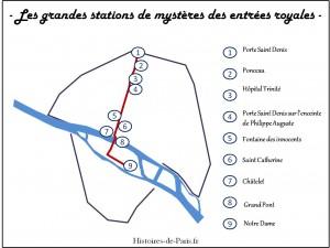 grandes stations des mystères des entrées royales parisiennes