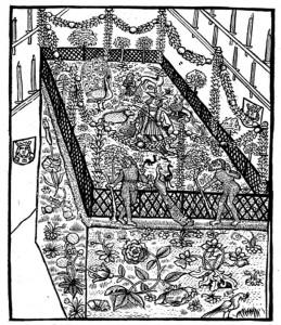 jardin flamboyant d'animaux des mystères des entrées royales