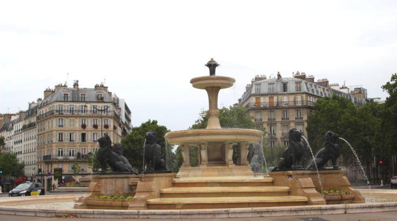 Fontaine aux lions à Daumesnil