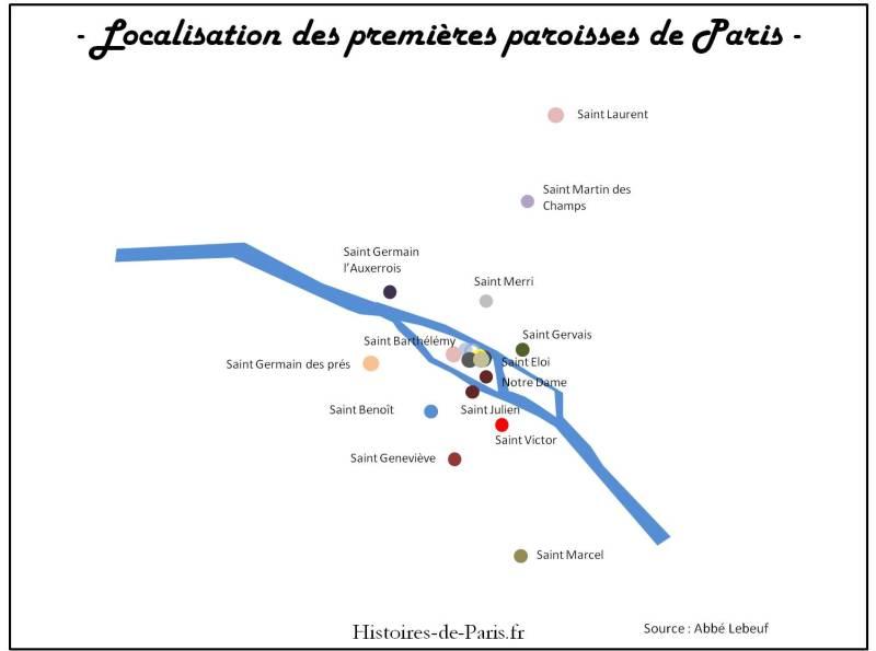 premieres paroisses de Paris