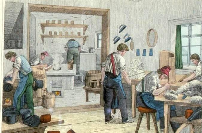 les chapeliers par Jean Frédéric Wentzel